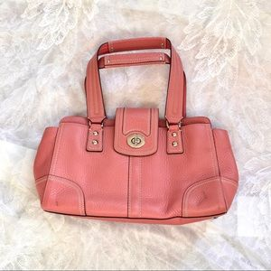 COACH   Hampton pebbled leather bag #F13961